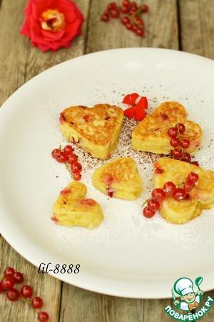 Рецепт Рисовые оладьи с красной смородиной