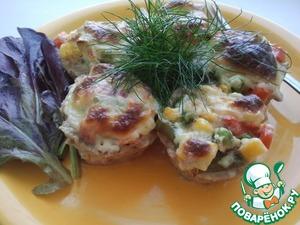 """Рецепт Мясные корзиночки с овощами и соусом """"Бешамель"""""""