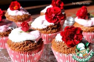 Рецепт Шоколадные кексы с зефирной шапочкой