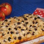 Немецкий пирог с яблоками и шафраном