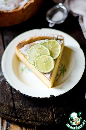 Рецепт Песочный тарт с рисовым кремом и лаймом