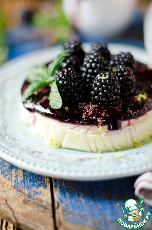 Рецепт Рисовый десерт с ежевичным соусом и лаймом