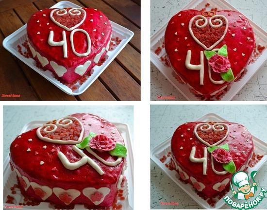 40 лет свадьба торт фото