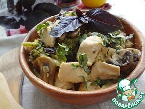 Рецепт Курица с брокколи в кокосовом молоке с имбирем и лимоном