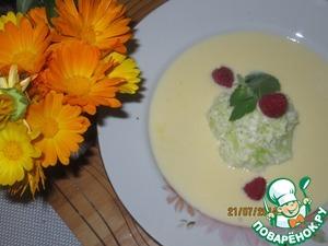 Рецепт Молочный суп-крем с кабачком и ореховой стружкой
