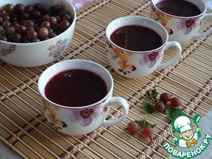 Рецепт Крыжовенный кисель со свекольным соком