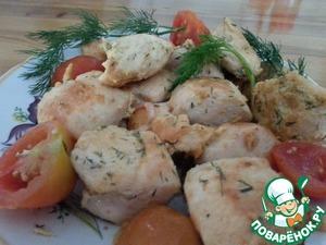 Рецепт Куриная грудка с горчицей и яйцом