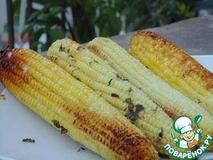 Рецепт Запеченная кукуруза с базиликовым маслом