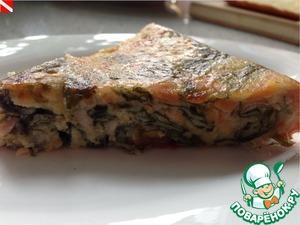 Рецепт Клафути с лососем и летними овощами