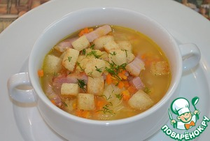 Готовим простой рецепт приготовления с фотографиями Гороховый суп с копченой грудинкой