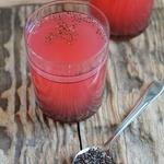 Сок-суперфуд арбузный с семенами чиа