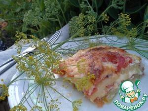 Рецепт Сочная запеканка из кабачков и помидоров
