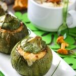 Кабачки, запеченные с грибами и шелковистый крем-суп