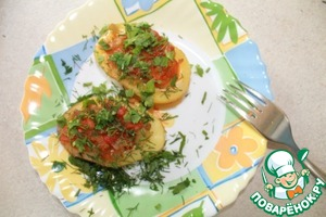 Рецепт Картофельные лодочки с овощами