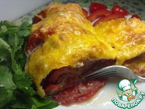 Рецепт Рататуй из баклажанов и помидоров с мясным фаршем