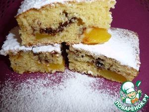 Рецепт Сладкий пирог с персиками и шоколадом