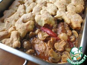 Рецепт Свинина с грибами и сырными сконами