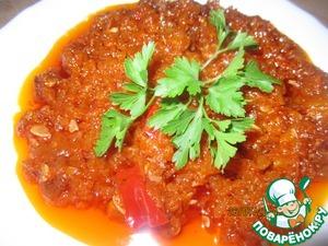 Рецепт Закуска из кабачков и болгарского перца
