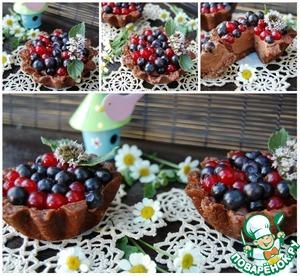 Рецепт Шоколадно-ягодные тарталетки