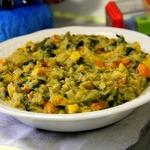 Каша из чечевицы с овощами. Вариант детского меню