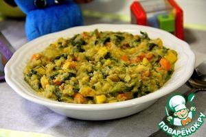 Рецепт Каша из чечевицы с овощами. Вариант детского меню