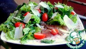 Рецепт Карпаччо-салат из свежего тунца