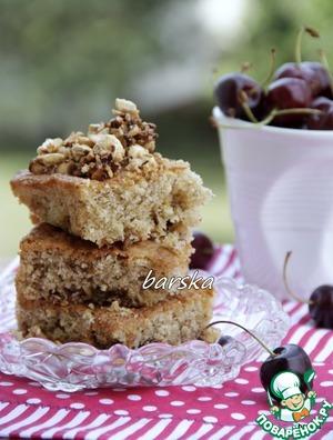"""Рецепт Миндально-вишнёвый кекс с ореховым крокантом """"Летняя встреча"""""""