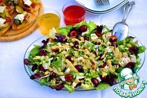 Рецепт Салат из курицы с черешней и соусом кари