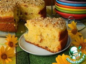 Рецепт Творожный пирог с апельсиновым соусом