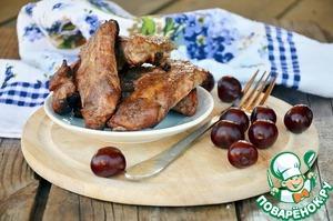 Рецепт Ребрышки в вишневой глазури