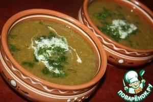 Рецепт Суп-пюре из нута и лука порея