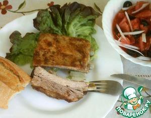 Рецепт Запеченные свиные ребрышки с салатом «Мурсия»