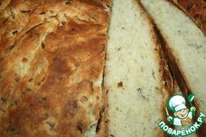 Рецепт Хлеб из кабачков с зеленью, луком и кунжутным маслом