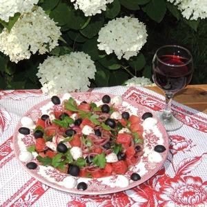 """Рецепт Арбузный салат """"Summer"""""""