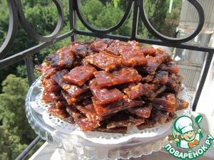 Рецепт Абрикосовая пастила с грецким орехом