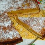 Апельсиновый двухслойный пирог