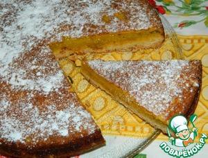 Рецепт Апельсиновый двухслойный пирог