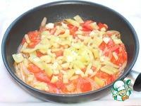 Цветная капуста с курицей в томатно-овощном соусе ингредиенты