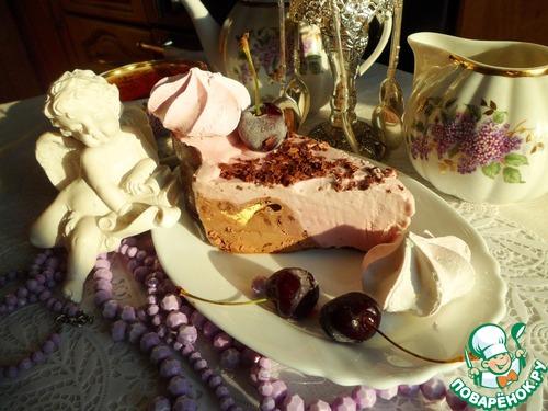 Шоколадно-вишневый торт-мороженое