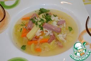 Рецепт Рисовый суп с помидорами