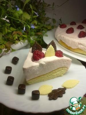 Рецепт Простой торт малина со сливками
