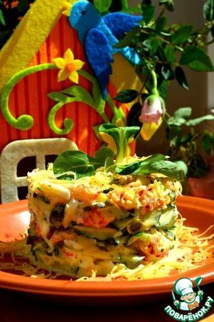 Рецепт Летний салат с раковыми шейками