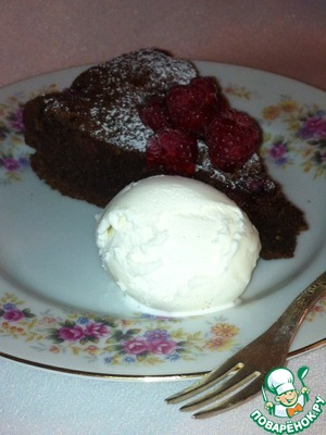 Рецепт Шоколадный пирог с малиной