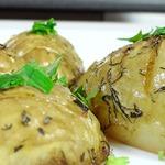 Картофель запеченный с зеленью