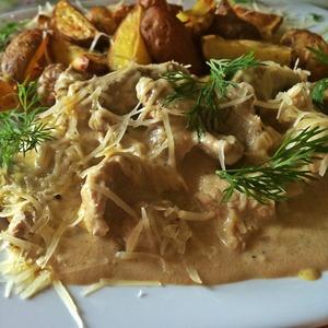 Рецепт Свинина в сметанно-горчичном соусе в мультиварке