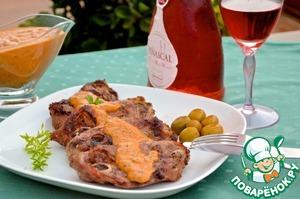 Рецепт Баранина под соусом сабайон из красного перца