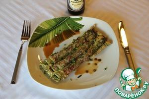 Рецепт Запеканка со спаржей в беконе