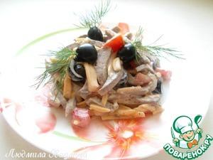 """Рецепт Салат с говяжим языком """"Праздничный"""""""