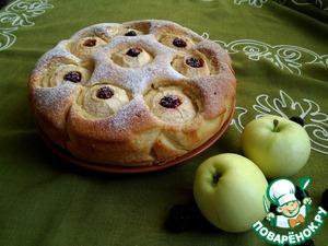 Рецепт Пирог с яблоками и ежевикой