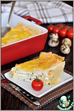 "Рецепт Слоеный пирог с брынзой по мотивам пирога ""Фатаер"""